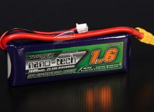 Turnigy nano-tech 1600mAh 2S 25 ~ 50C Lipo Confezione