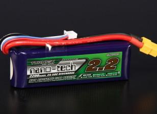 Turnigy nano-tech 2200mah 3S 25 ~ 50C Lipo Confezione