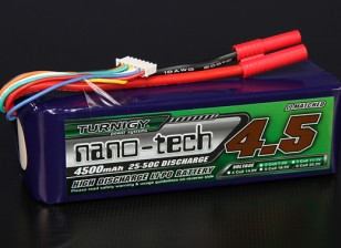 Turnigy nano-tech 4500mah 6S 25 ~ 50C Lipo Confezione