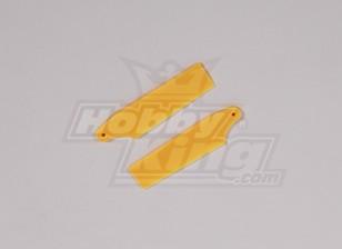 450 Dimensioni Heli plastica gialla Tail Blade (coppia)