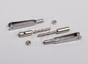 Acciaio collegamento rapido Cavallotto w / 2mm filettata accoppiatori (1Pair)