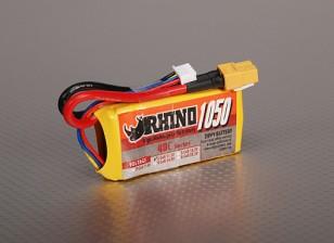 Rhino 1050mAh 3S 11.1v 40C Lipoly Confezione
