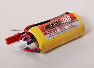 Rhino 360mAh 2S 7.4V 20C Lipoly Confezione