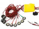 HobbyKing™ High Power 3W 8pc Aircraft Navigation and Landing Light Set