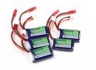 Turnigy nano-tech 180mAh 2S 25~40C Lipo Pack (5pcs)