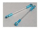 Pesanti aste dovere di spinta con collegamento palla finisce M4x83mm (2pcs / bag)