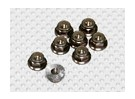 In titanio color alluminio anodizzato M5 Nylock Wheel Nuts w / seghettato flangia (8pcs)