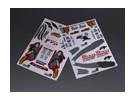 Auto Sticker Foglio Adesivo - Team Samurai 1/10 Scala