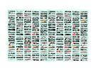 Auto Sticker Foglio Adesivo - Decoration logo 1/10 Scala