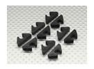 Air Line Linea / carburante / Cable Clip Tidy per 6 millimetri OD (10pc)