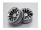 Scala 1:10 di alta qualità Touring / Drift Wheels RC 12 millimetri Hex (2pc) CR-DBSS