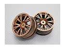Scala 1:10 di alta qualità Touring / Drift Wheels RC 12 millimetri Hex (2pc) CR-BRG