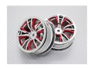 Scala 1:10 di alta qualità Touring / Drift Wheels RC 12 millimetri Hex (2pc) CR-BRR
