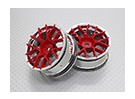Scala 1:10 di alta qualità Touring / Drift Wheels RC 12 millimetri Hex (2pc) CR-CHR