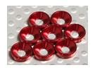 Svasata Rondella alluminio anodizzato M3 (Red) (8pcs)