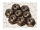 In titanio color alluminio anodizzato M4 Nylock Nuts (8pcs)