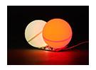 LED PCB rosso Strobe e continuo LED bianco 3.3 ~ 6.0V con Twin Ball Diffusore