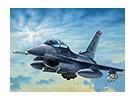 Italeri 1/72 Scale Kit F-16 C / D Notte Falcon plastica Modello