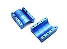 Blu anodizzato di alluminio di CNC del tubo morsetto diametro 22mm (Set di 4)
