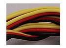 Piatto 26AWG servo filo 1mtr (R / B / Y)