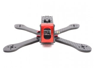 GEP-AX5 Airbus FPV Racing Drone Frame 215 (Red) (Kit) - Front