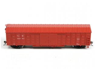 P64K Box Car (Ho Scale - 4 Pack) Brown Set 2 side profile