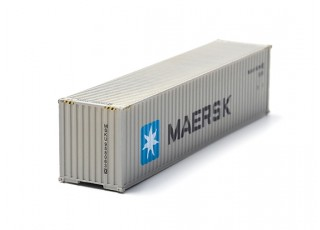 HO Scale 40ft Shipping Container (MAERSK)) front view