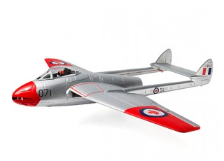 Durafly™ D.H.100 Vampire Mk6 EDF Jet V2 RCAF - side view