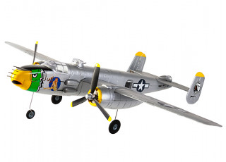 "H-King Micro B-25J Mitchell ""Lady Lil"" Gunship 550mm (21.6"") PNF - front left"