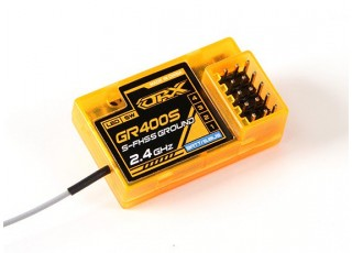 SCRATCH/DENT OrangeRx GR400S Futaba FHSS & S-FHSS Compatible 4ch 2.4Ghz Ground Receiver with FS and SBus