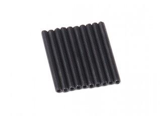Screw Grub Hex M2 X 20mm Machine Steel Black (10pcs)