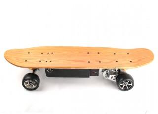 Long Board Style Electric Skateboard Side view