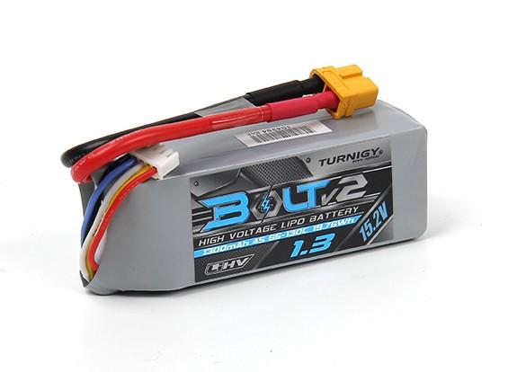 Turnigy Bolt V2 1300mAh 4S 65~130C High Voltage Lipo Pack