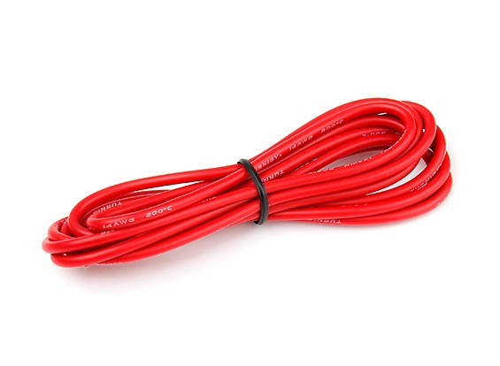 Turnigy High Quality 14AWG Silicone Wire 2m (Red)