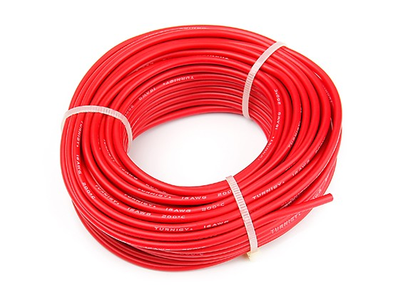Turnigy High Quality 16AWG Silicone Wire 15m (Red)