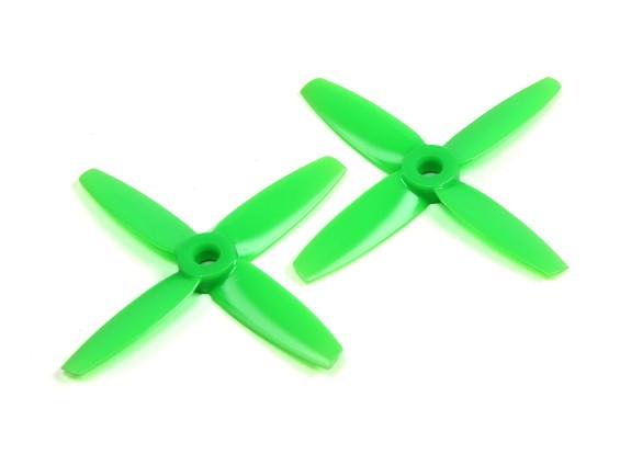 Gemfan 3035 Bullnose Polycarbonate 4 Blade Propeller Green (CW/CCW) (1 Pair)