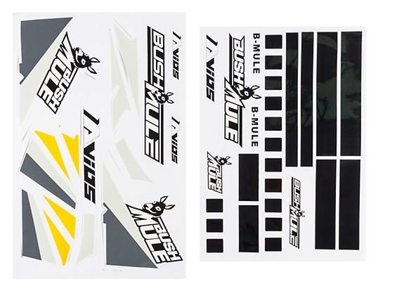 Avios BushMule - Sticker Set (Yellow/Grey) | HobbyKing