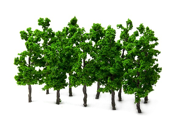 HobbyKing™ 110mm Scenic Wire Model Trees  (10 pcs)