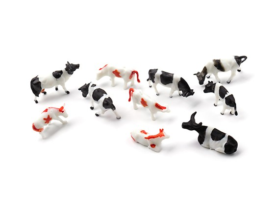 1/87th (HO scale) Assorted Cows (10pcs)