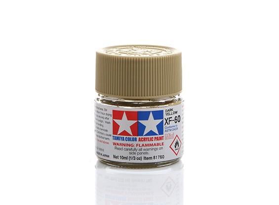 Tamiya XF-60 Flat Dark Yellow Mini Acrylic Paint (10ml)
