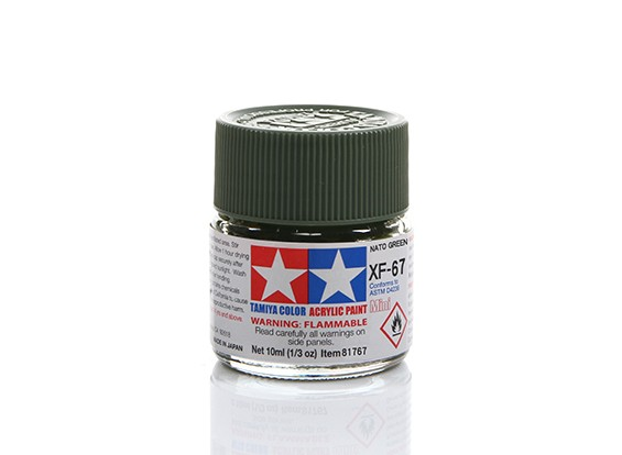 Tamiya XF-67 Flat Nato Green Mini Acrylic Paint (10ml)
