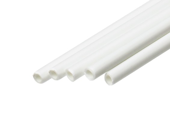 ABS Round Tube 2.5mm OD x 500mm White (Qty 5)