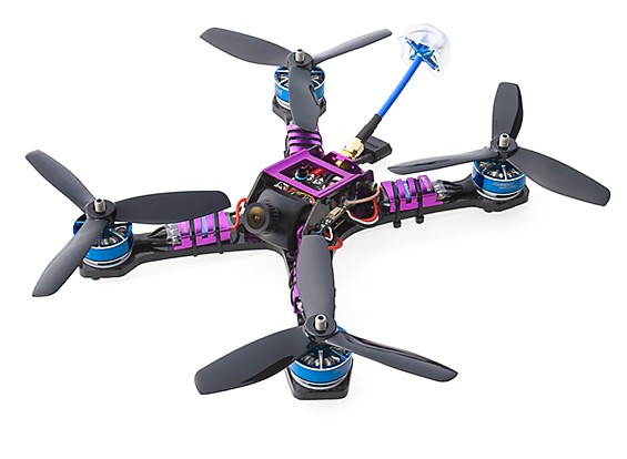 Diatone 2017 GT200S FPV Racing Drone PNF (Violet) View 1