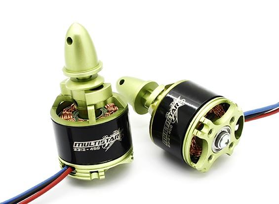 Turnigy Multistar 2312-460Kv HV 12 полюс Multi-Rotor Походный набор CW / CCW (2)