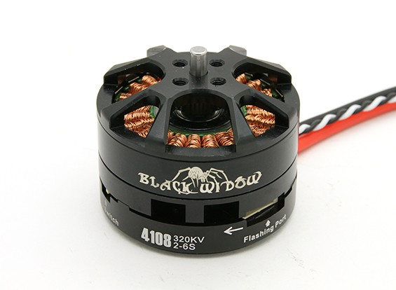 SCRATCH/DENT - Black Widow 4108-320Kv w/ Built-In ESC CW/CCW