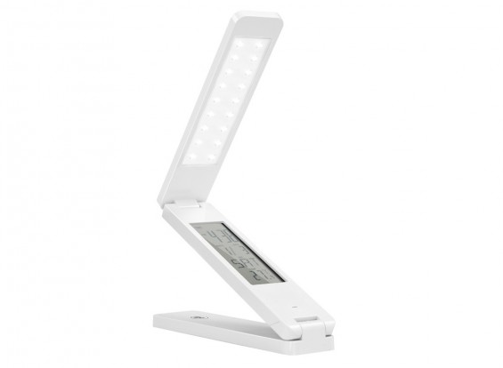 LED Table Reading Portable Smart Lamp With Clock Alarm Temp Adjustable Color & Brightness