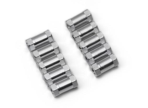 Легкий алюминиевый круглого сечения Spacer M3x10mm (серебро) (10шт)