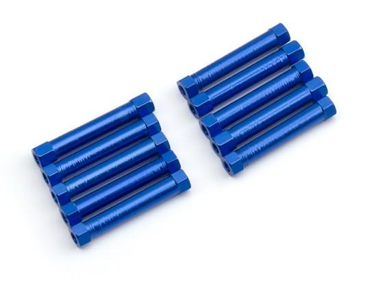 Легкий алюминиевый круглого сечения Spacer M3x29mm (синий) (10шт)
