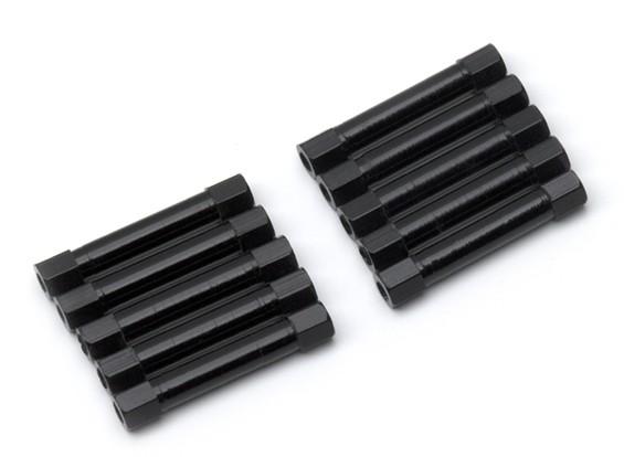 Легкий алюминиевый круглого сечения Spacer M3x30mm (черный) (10шт)