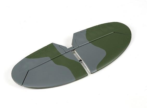 Durafly ™ Spitfire Мк5 ЕТО (зеленый / серый) Горизонтальное оперение